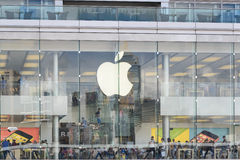 Apple stote στο Χονγκ Κονγκ Στοκ Εικόνες