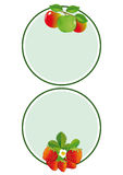 Apple and Strawberry labels Royalty Free Stock Image