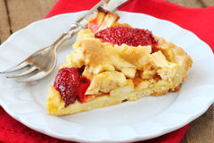 Apple and strawberry tart Royalty Free Stock Photo