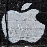 Apple Street Art Royalty Free Stock Images
