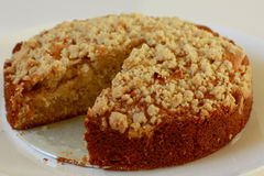 Apple streusel cake Stock Photography