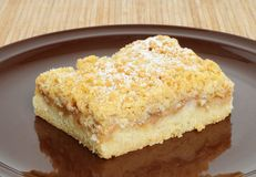Apple-streusel pie Stock Photography
