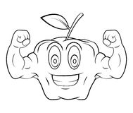Apple Strong Cartoon Royalty Free Stock Photo