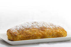 Apple strudel. On a plate ready to the enjoy Royalty Free Stock Photography
