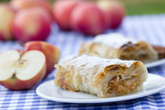 Apple strudel - apple pie Stock Photos