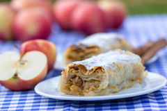 Apple strudel - apple pie Stock Photography