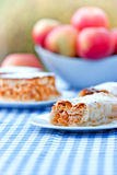 Apple strudel and apple pie - cake Royalty Free Stock Images
