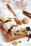 Apple strudel for Christmas Royalty Free Stock Photos