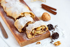 Apple strudel for Christmas Royalty Free Stock Photo