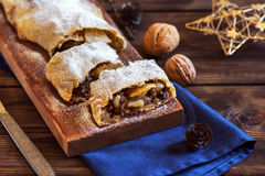 Apple strudel for Christmas Royalty Free Stock Images