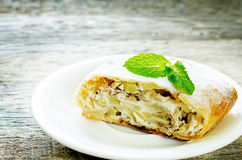 Apple strudel with cream cheese Stock Image