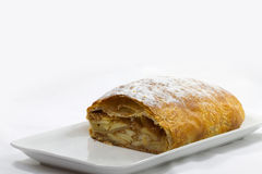 Apple strudel cut to. On a plate are apple strudel cut to Royalty Free Stock Photography