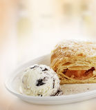 Apple Strudel with Ice Cream Royalty Free Stock Image