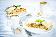 Apple strudel Stock Photos