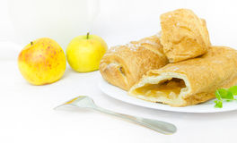 Apple strudel with mint Royalty Free Stock Image