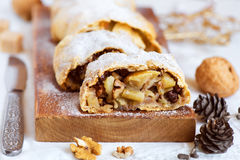 Apple strudel (pie) Royalty Free Stock Photography