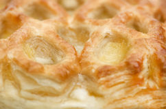 Apple strudel puff pastry close-up. Stock Image