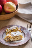 Apple strudel with walnuts Royalty Free Stock Images