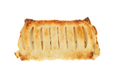 Apple strudel on white Royalty Free Stock Photo