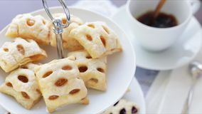 Apple Strudels and Coffee stock footage