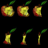 Apple stub Royalty Free Stock Photos