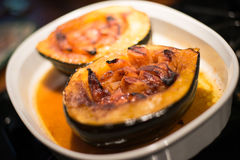 Apple Stuffed Acorn Squash Royalty Free Stock Photos