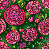 Apple style sit down relax seamless pattern Royalty Free Stock Image