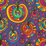 Apple stylu miłości bezszwowy wzór Zdjęcie Stock