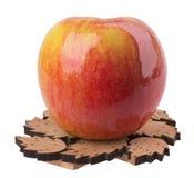 Apple su un fondo bianco Fotografia Stock