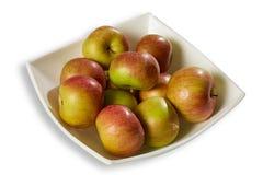 Apple su un piatto Immagini Stock Libere da Diritti