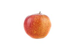 Apple su una priorità bassa bianca Immagini Stock