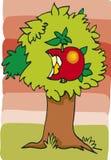 Apple sull'albero Fotografia Stock