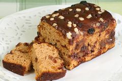 Apple and Sultana Cake Royalty Free Stock Image