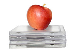 Apple sur des Cd Images libres de droits