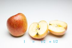 Apple rich in flavor and vitamins. The apple, sweet and tasty, ideal to be eaten both in the breakfasts and at noon and in the snacks, there are sweet and juicy stock photography