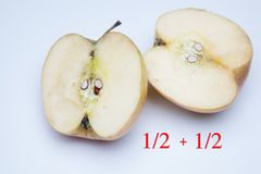 Apple rich in flavor and vitamins. The apple, sweet and tasty, ideal to be eaten both in the breakfasts and at noon and in the snacks, there are sweet and juicy stock photo