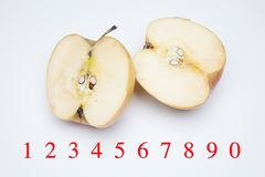 Apple rich in flavor and vitamins. The apple, sweet and tasty, ideal to be eaten both in the breakfasts and at noon and in the snacks, there are sweet and juicy stock image