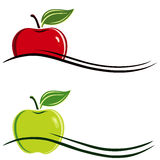 Apple symbol. A illustration of an apple symbol Stock Photography