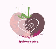 Apple symbol royaltyfri illustrationer