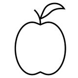 Apple symbol stock illustrationer