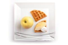 Apple syrliga skivor Royaltyfri Fotografi