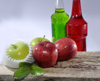 Apple and syrup Stock Photos