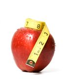 Apple and tape royalty free stock image
