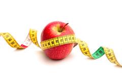 Apple and Tape Measure Stock Photos