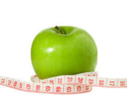 Apple & Tape Measure, Diet Concept Stock Images