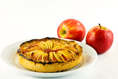Apple tart and apples Royalty Free Stock Image