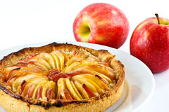 Apple tart and apples Royalty Free Stock Photo
