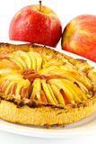 Apple tart and apples Stock Photo