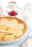 Apple tart with applesauce Royalty Free Stock Image