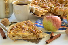 Apple tart with caramel filling Stock Photography